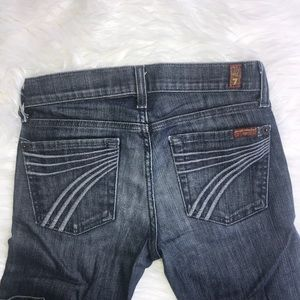 7 got all Mankind Dojo Jeans Dark Wash Trousers 24